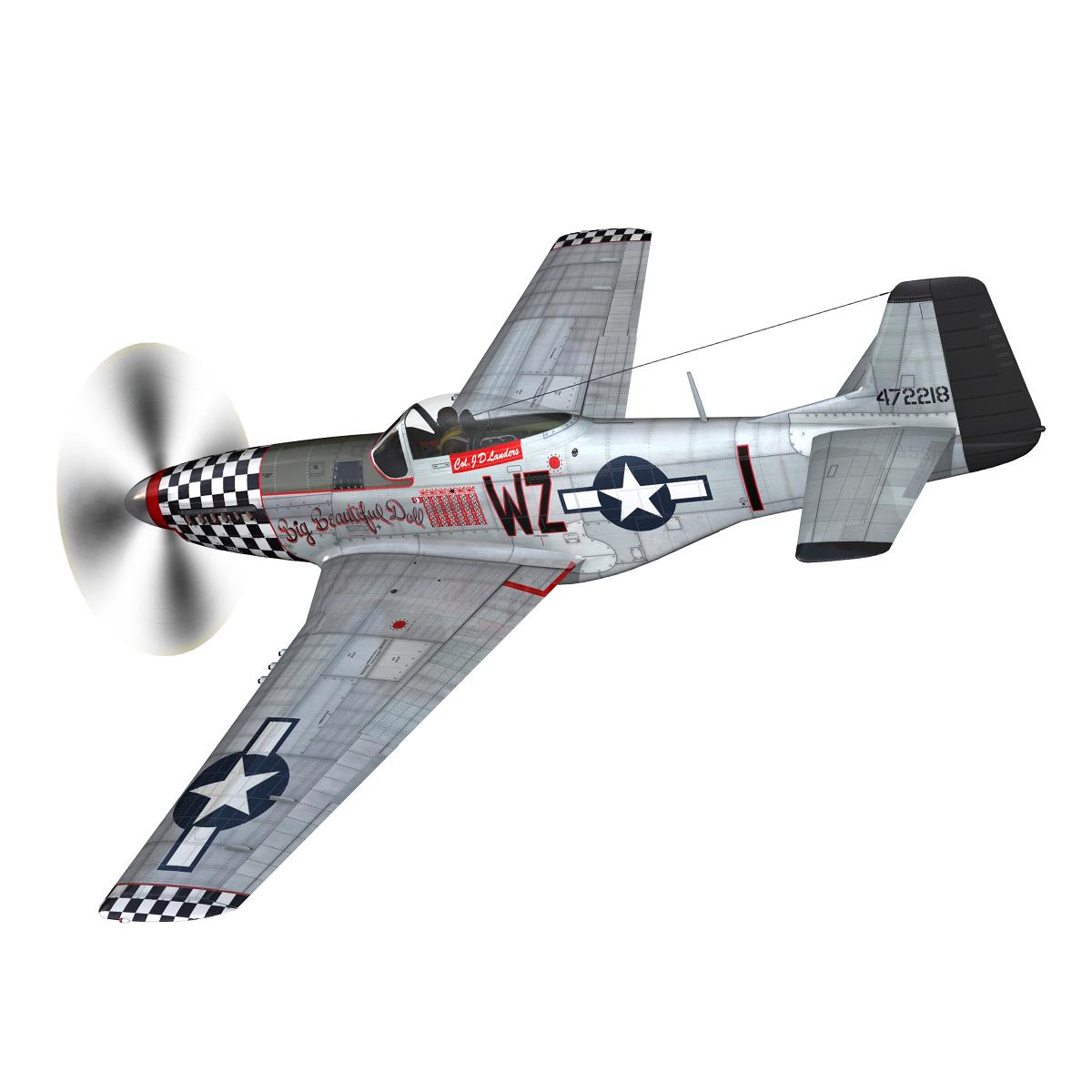 north american p-51d mustang – big beautiful doll 3d model fbx c4d lwo obj 282555