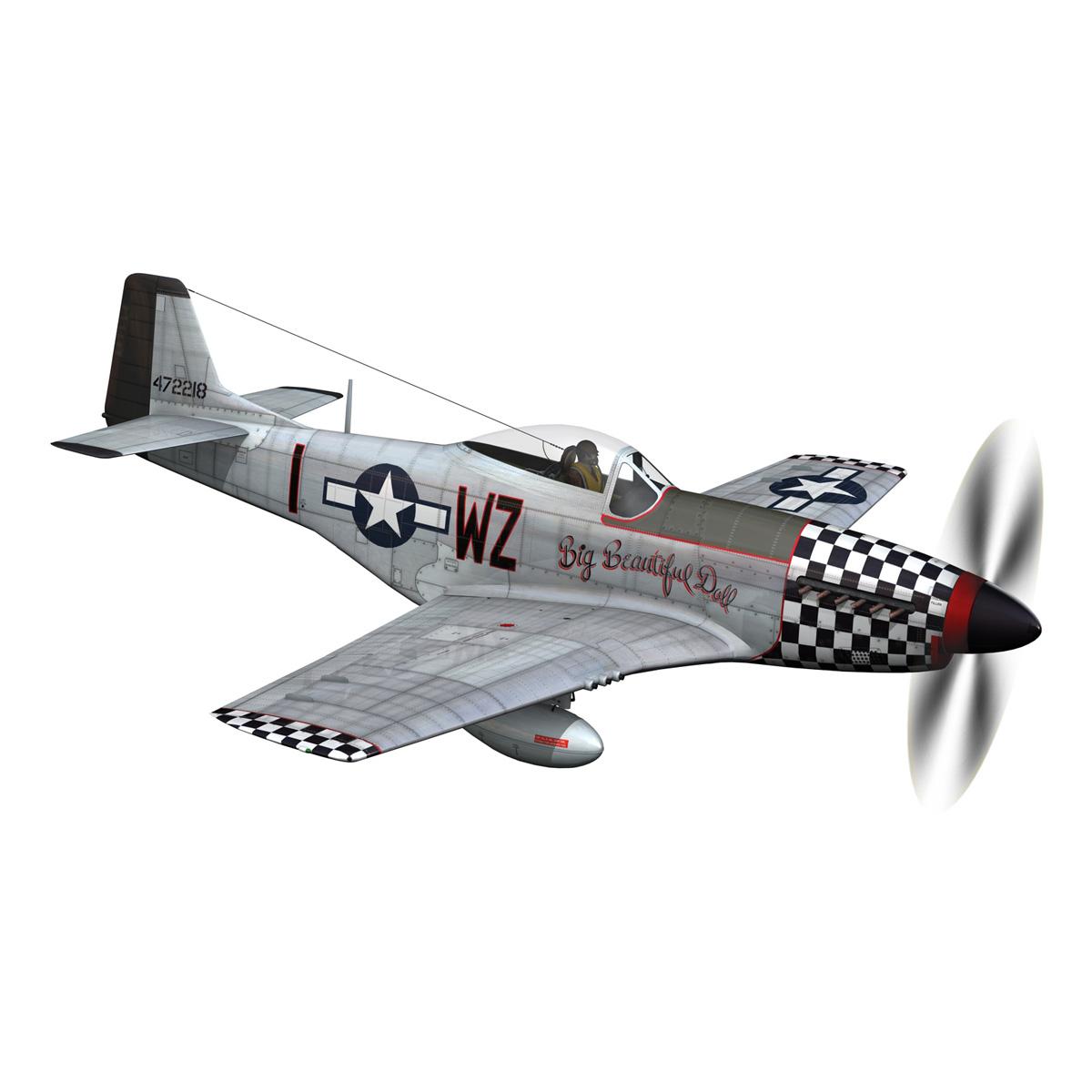 north american p-51d mustang – big beautiful doll 3d model fbx c4d lwo obj 282556