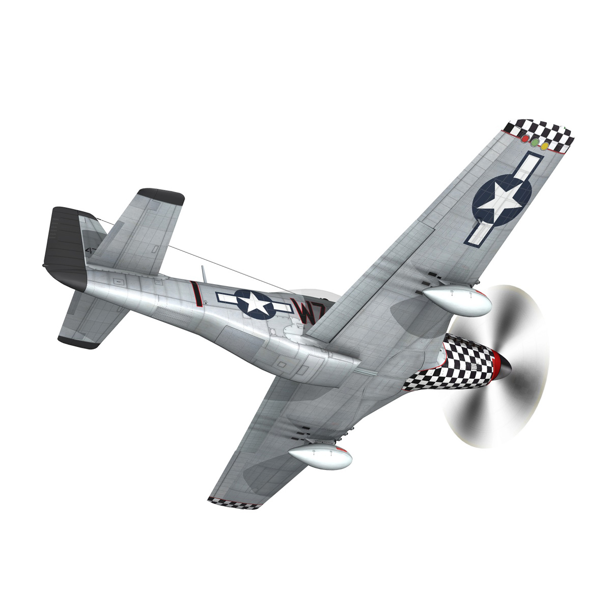north american p-51d mustang – big beautiful doll 3d model fbx c4d lwo obj 282557