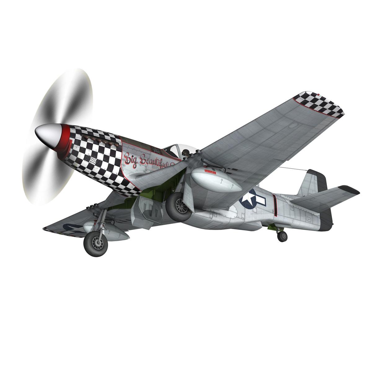 north american p-51d mustang – big beautiful doll 3d model fbx c4d lwo obj 282559