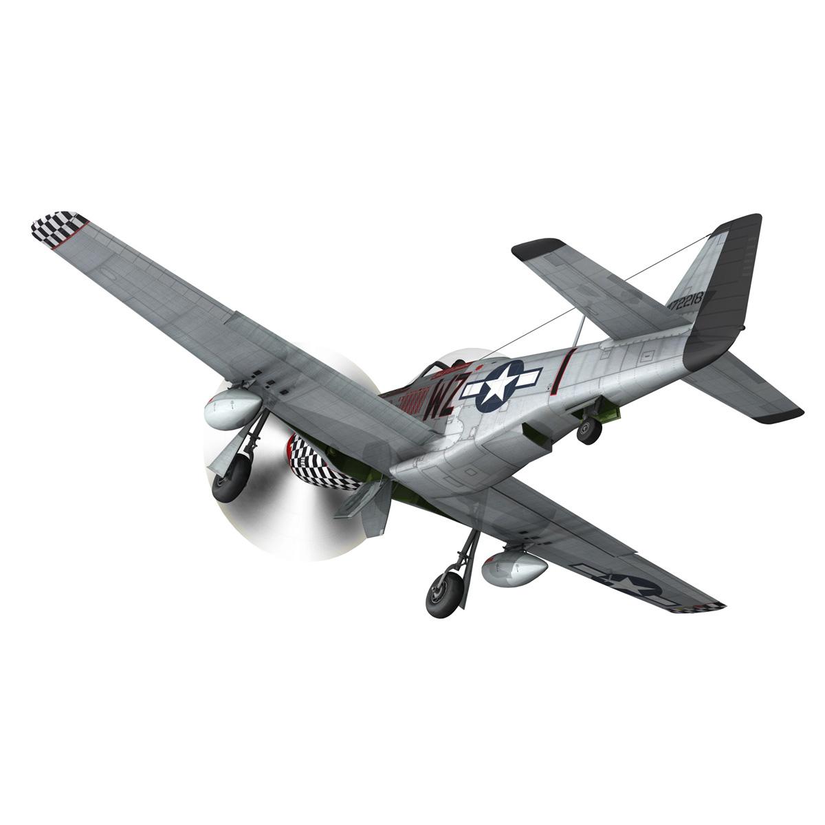 north american p-51d mustang – big beautiful doll 3d model fbx c4d lwo obj 282560