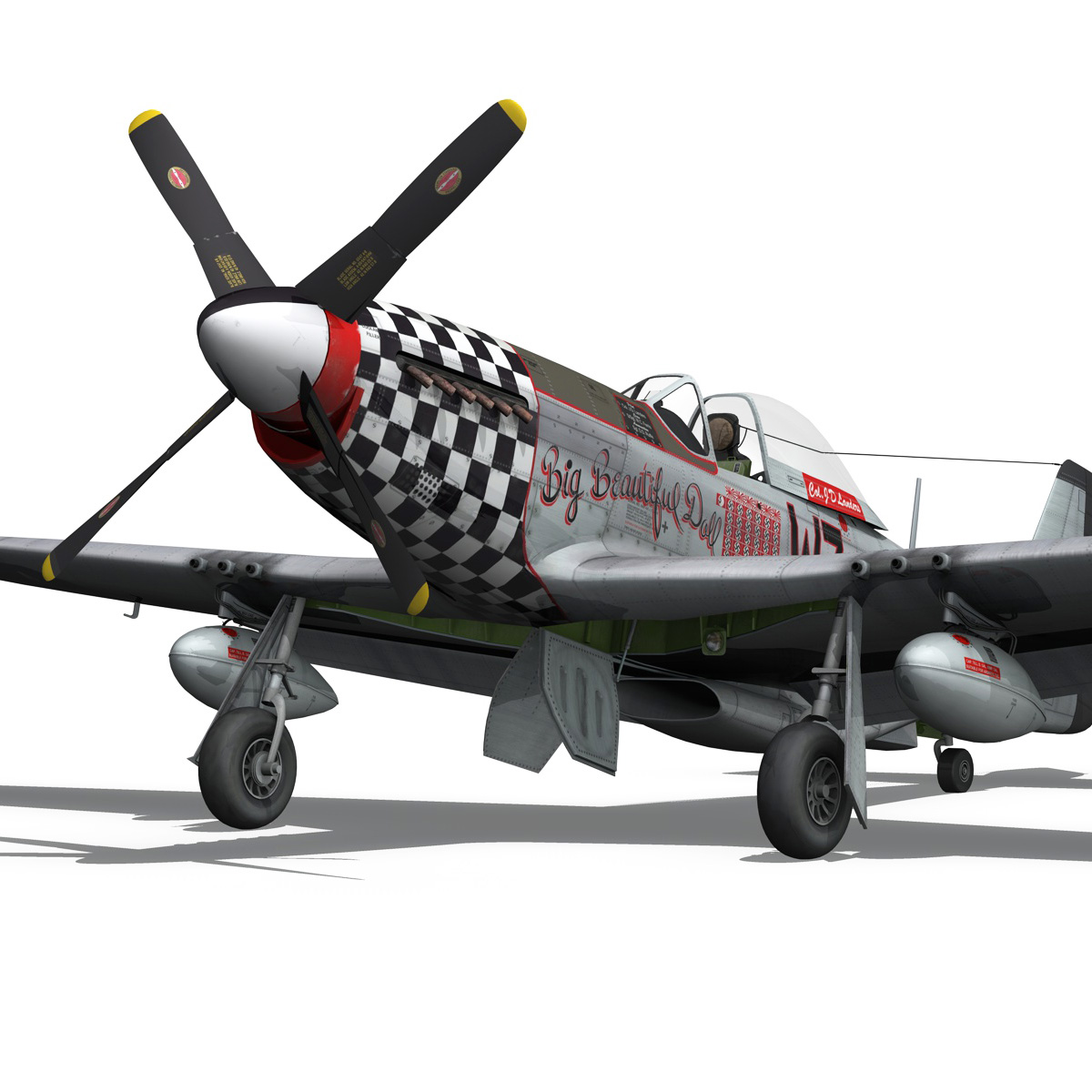north american p-51d mustang – big beautiful doll 3d model fbx c4d lwo obj 282561