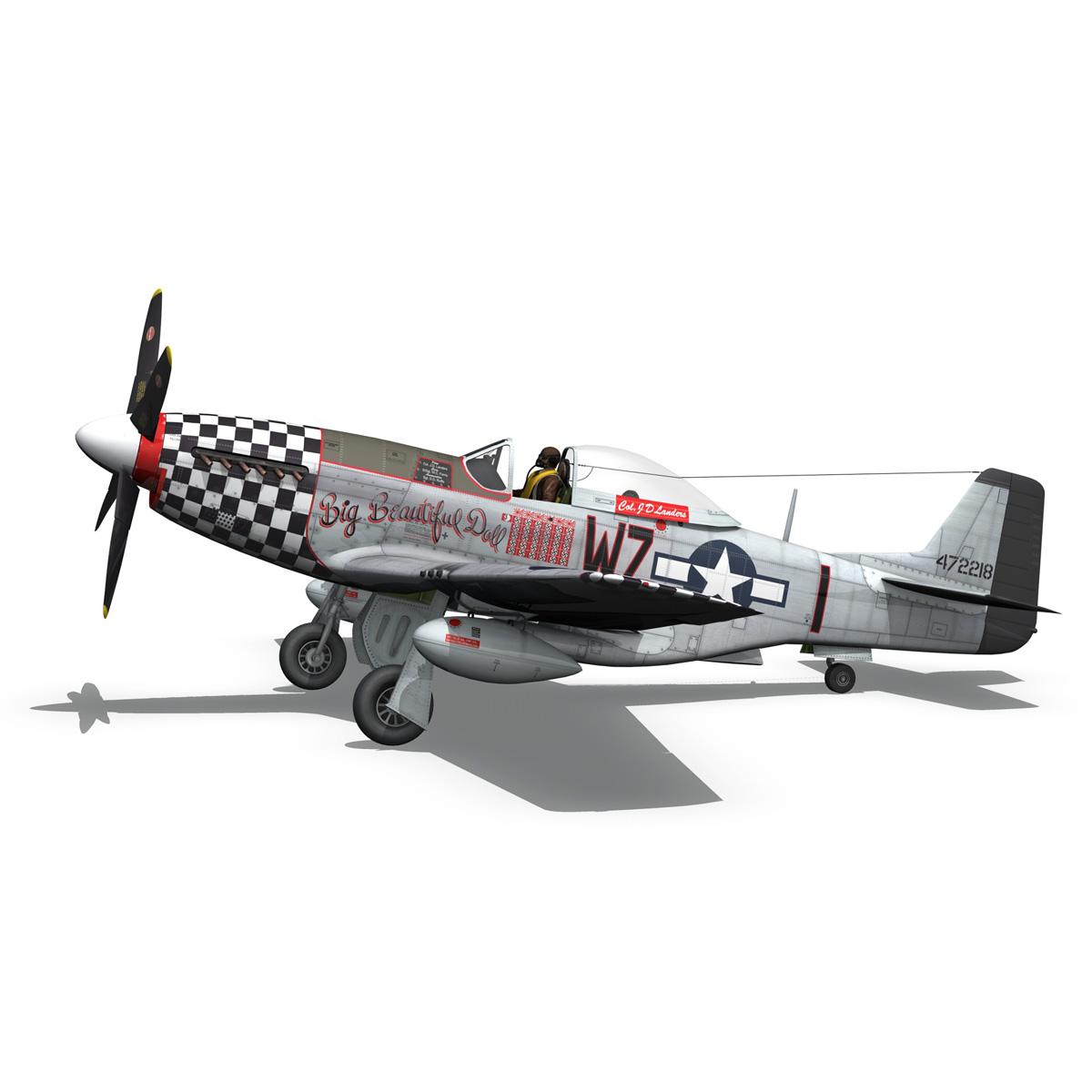 north american p-51d mustang – big beautiful doll 3d model fbx c4d lwo obj 282562