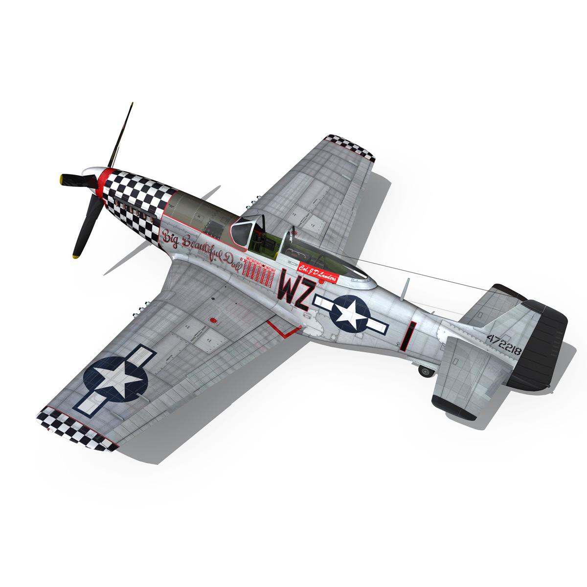 north american p-51d mustang – big beautiful doll 3d model fbx c4d lwo obj 282563