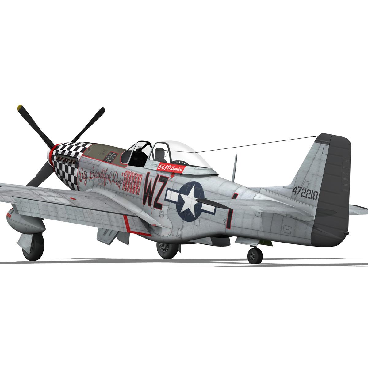 north american p-51d mustang – big beautiful doll 3d model fbx c4d lwo obj 282564