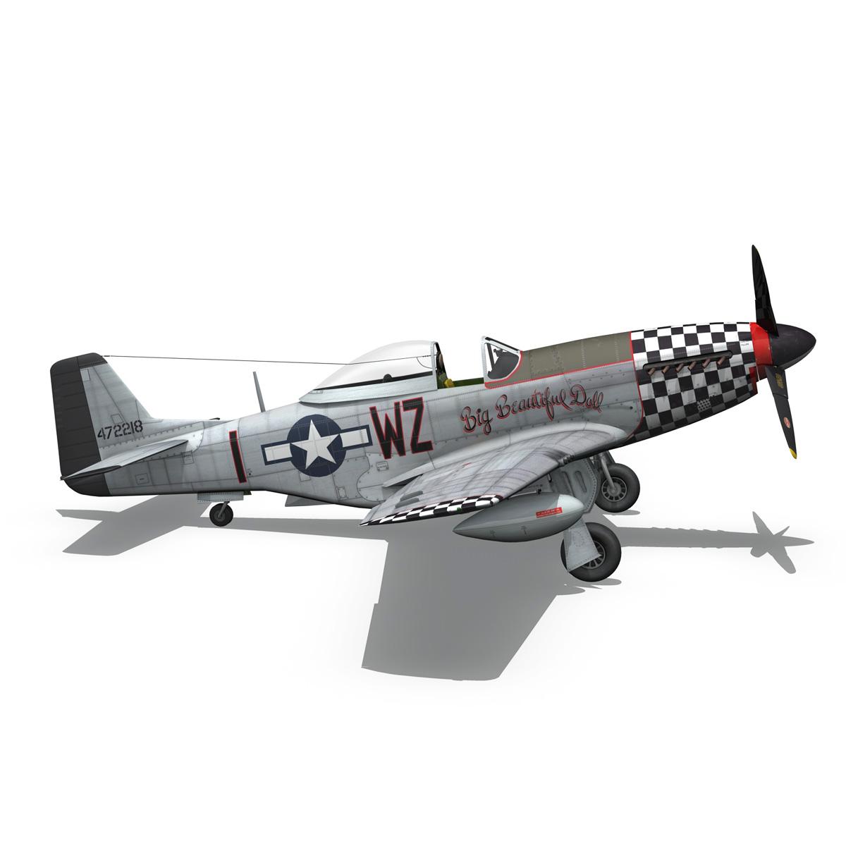 north american p-51d mustang – big beautiful doll 3d model fbx c4d lwo obj 282565