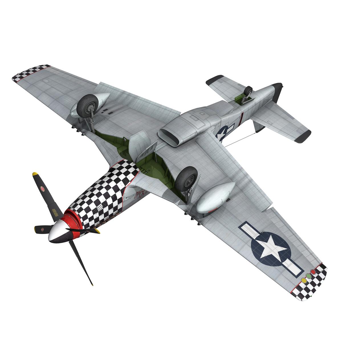 north american p-51d mustang – big beautiful doll 3d model fbx c4d lwo obj 282568