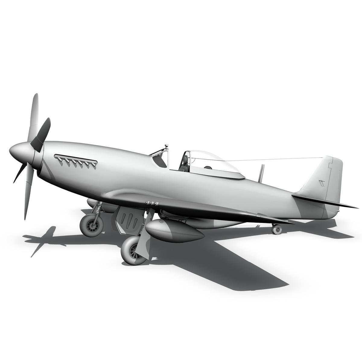 north american p-51d mustang – big beautiful doll 3d model fbx c4d lwo obj 282569