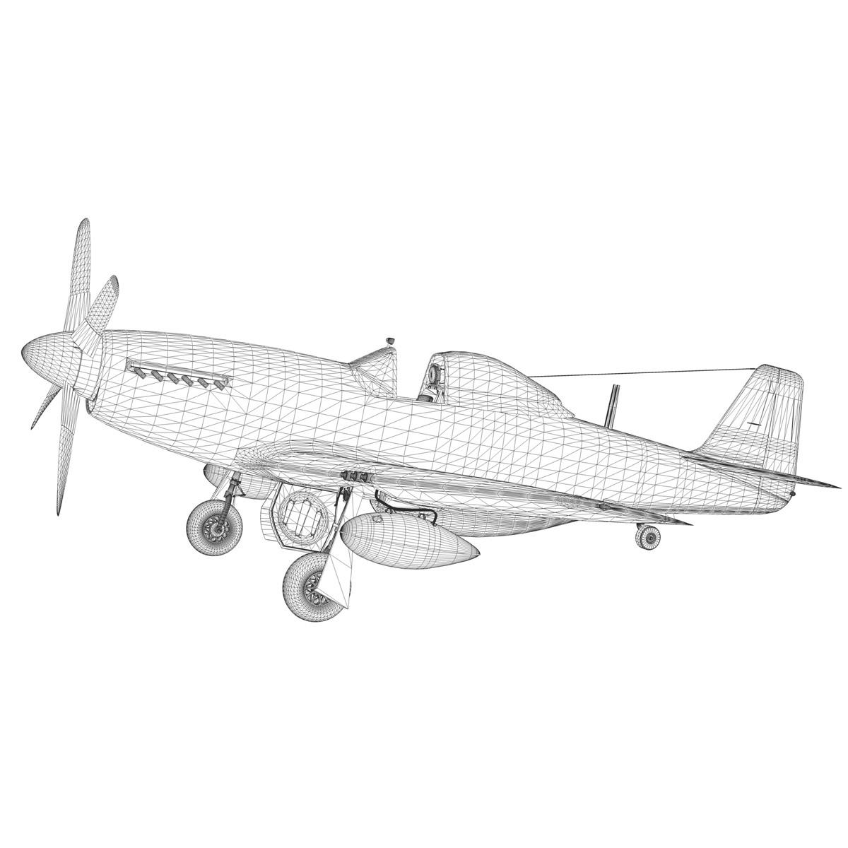 north american p-51d mustang – big beautiful doll 3d model fbx c4d lwo obj 282570