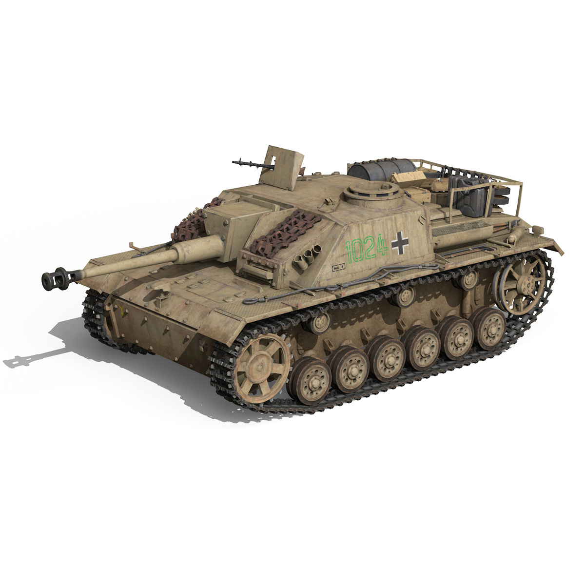 stug iii – ausf.g – 1024 – early production 3d model 3ds fbx c4d lwo obj 282603