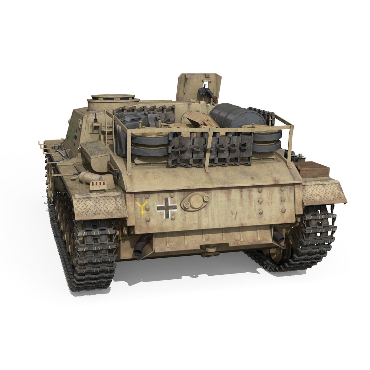 stug iii – ausf.g – 1024 – early production 3d model 3ds fbx c4d lwo obj 282606