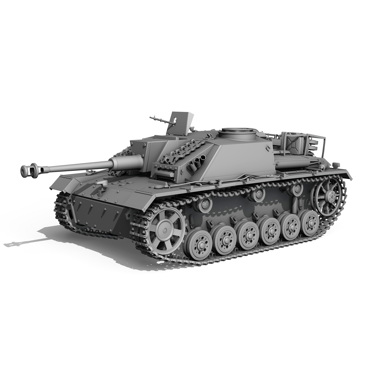 stug iii – ausf.g – 1024 – early production 3d model 3ds fbx c4d lwo obj 282613