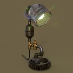 Steampunk Lamp 3d model max 3ds project fbx obj