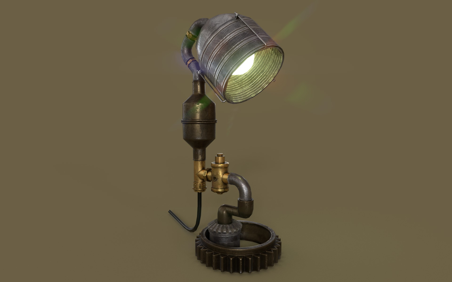 steampunk lamp 3d model max 3ds project fbx obj 282654