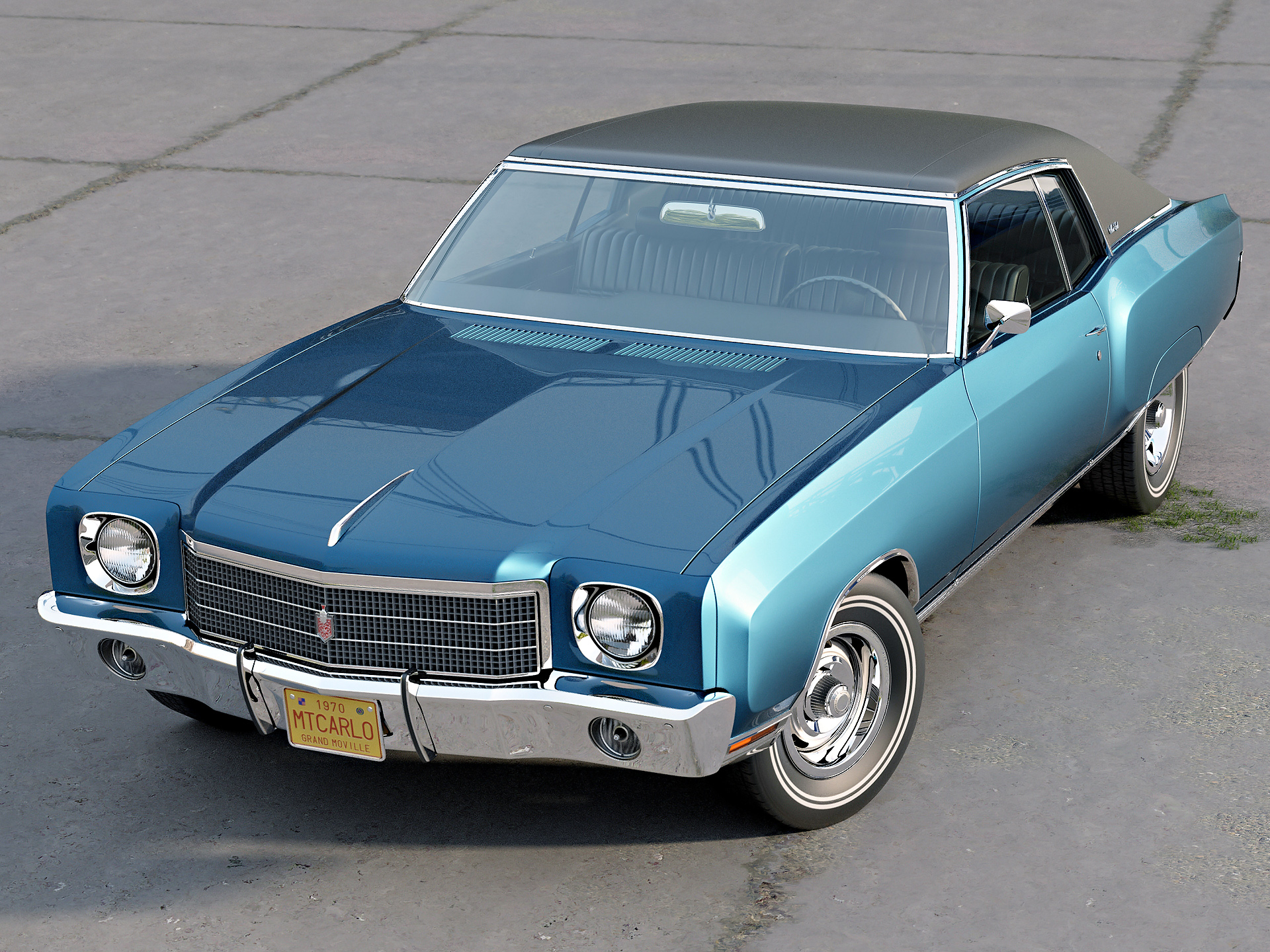 monte carlo coupe 1970 3d model 3ds max fbx c4d obj 282685