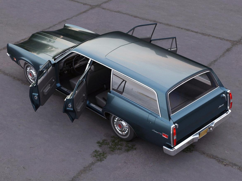 montego mx wagon 1970 3d model 3ds max fbx c4d obj 283073