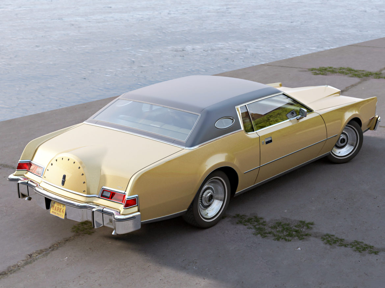 continental mark iv 1974 3d model 3ds max fbx c4d obj 283082