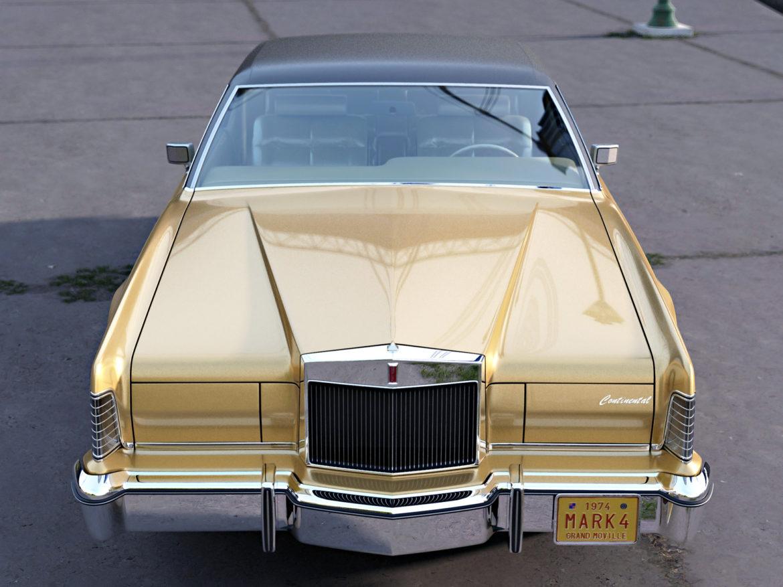 continental mark iv 1974 3d model 3ds max fbx c4d obj 283083