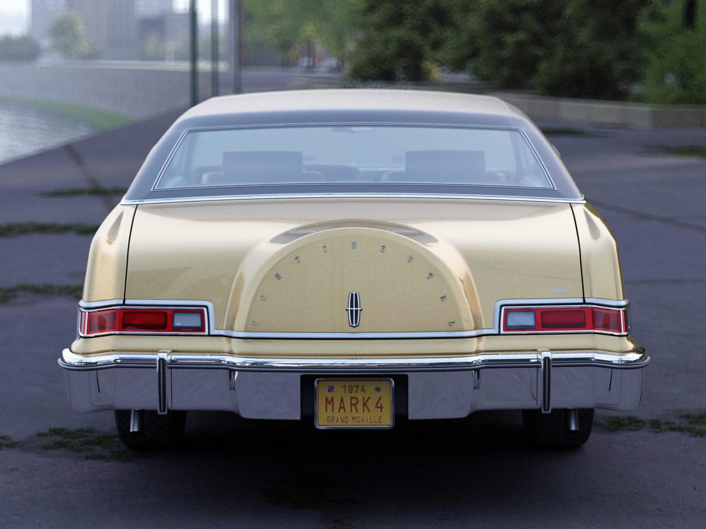 continental mark iv 1974 3d model 3ds max fbx c4d obj 283085