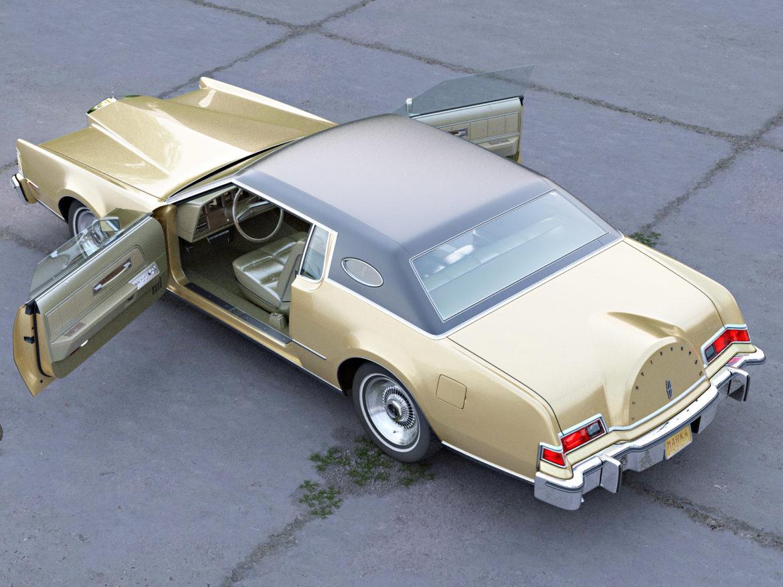 continental mark iv 1974 3d model 3ds max fbx c4d obj 283087