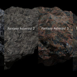 Fantasy Asteroid Collection 3d model high poly