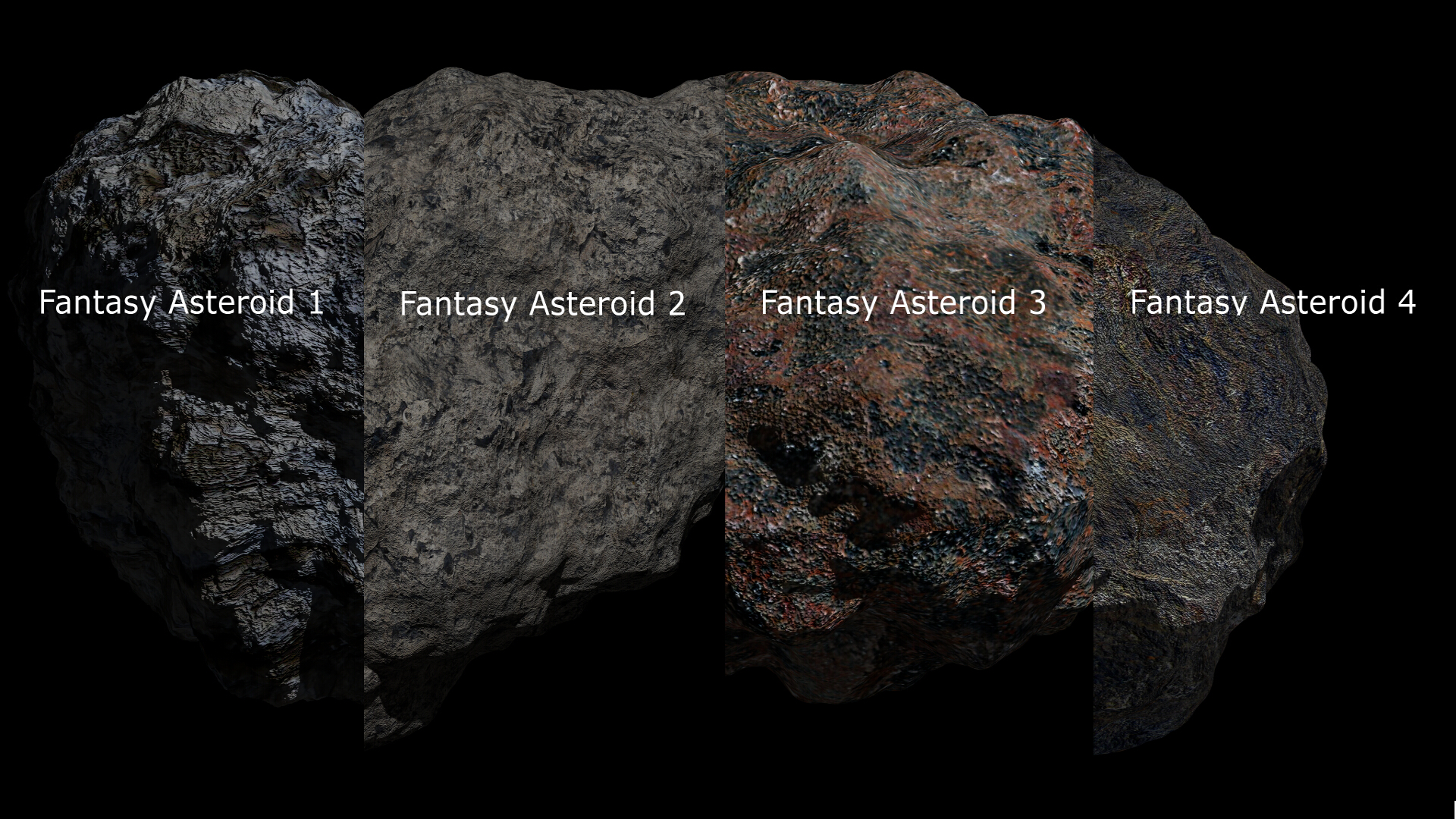 Fantasy Asteroid Collection 3d model  283275