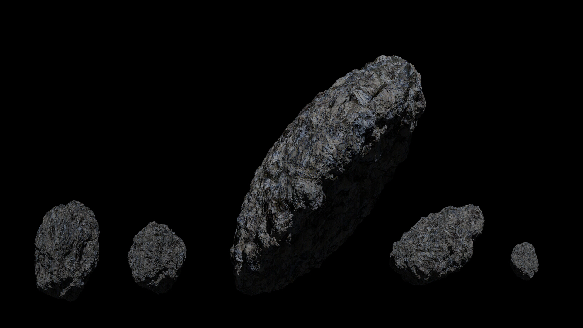 fantasy asteroid collection 3d model blend 3ds dae 283283