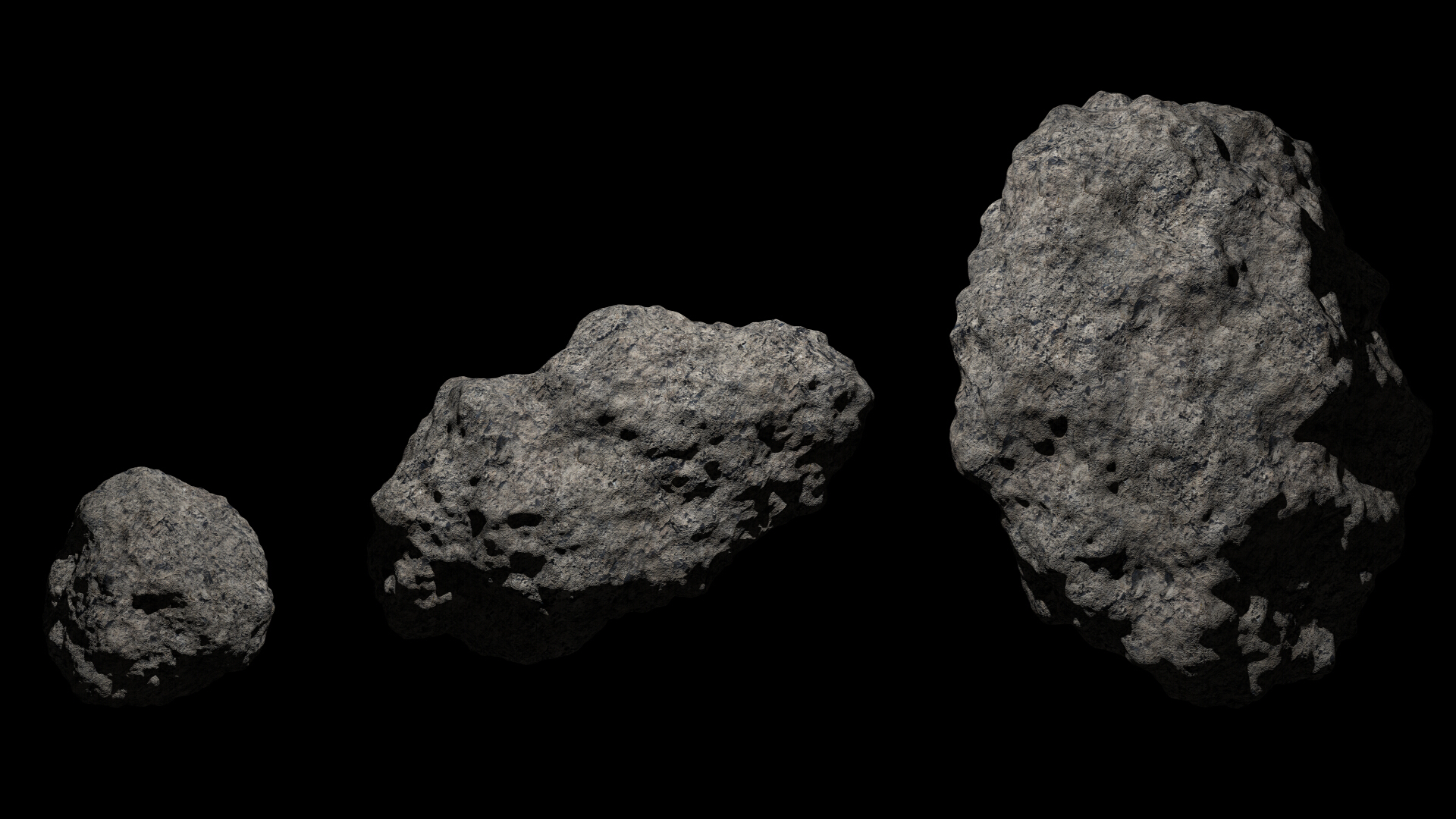 fantasy asteroid collection 3d model blend 3ds dae 283300