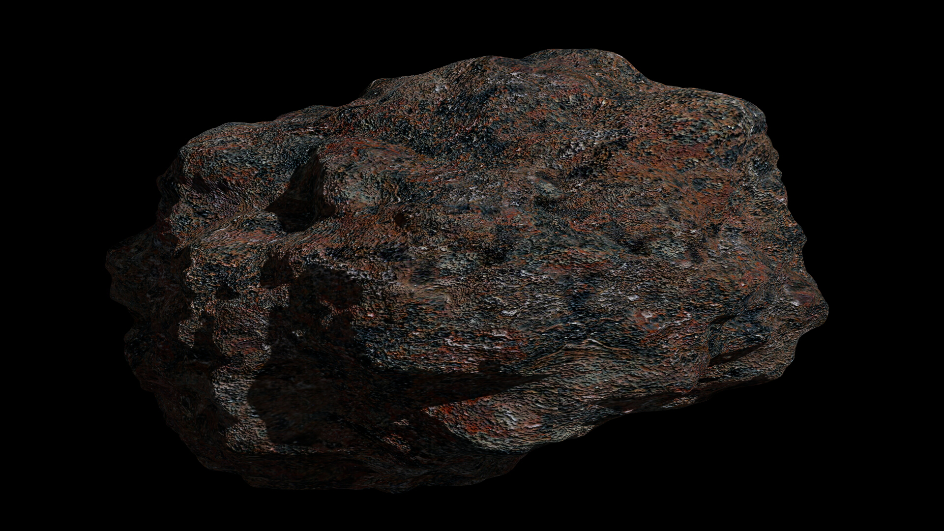fantasy asteroid collection 3d model blend 3ds dae 283326