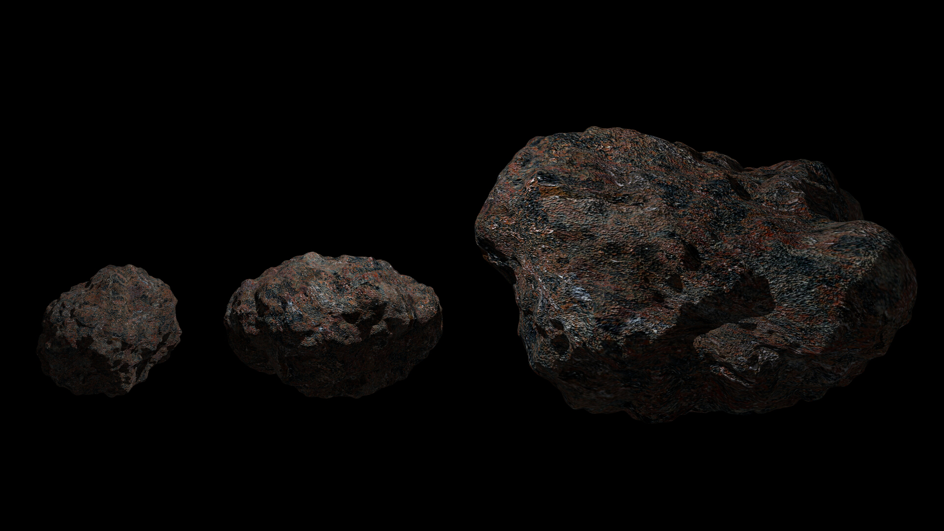 fantasy asteroid collection 3d model blend 3ds dae 283327