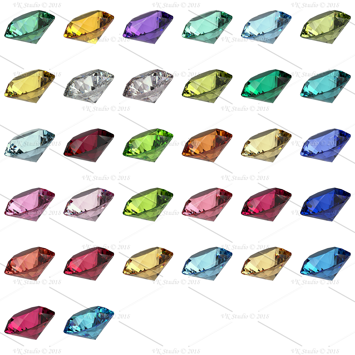 gemstone materials starter for v-ray and 3ds max 3d model max  283380