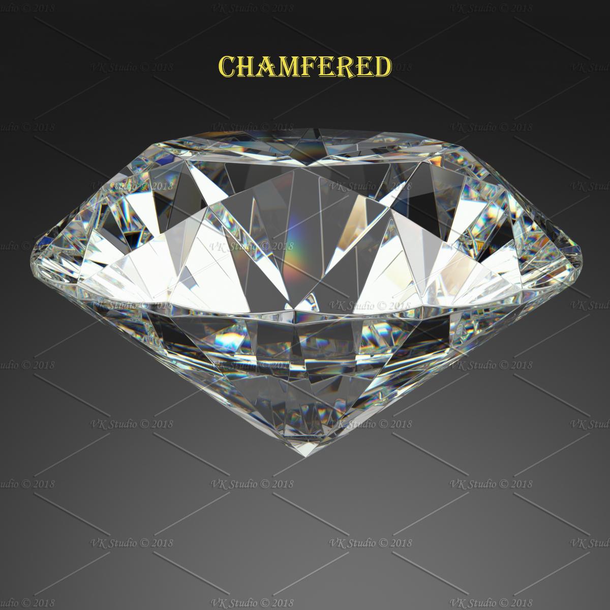 round brilliant diamond 3d model 3ds max dxf dwg fbx c4d ma mb 3dm  obj 283535