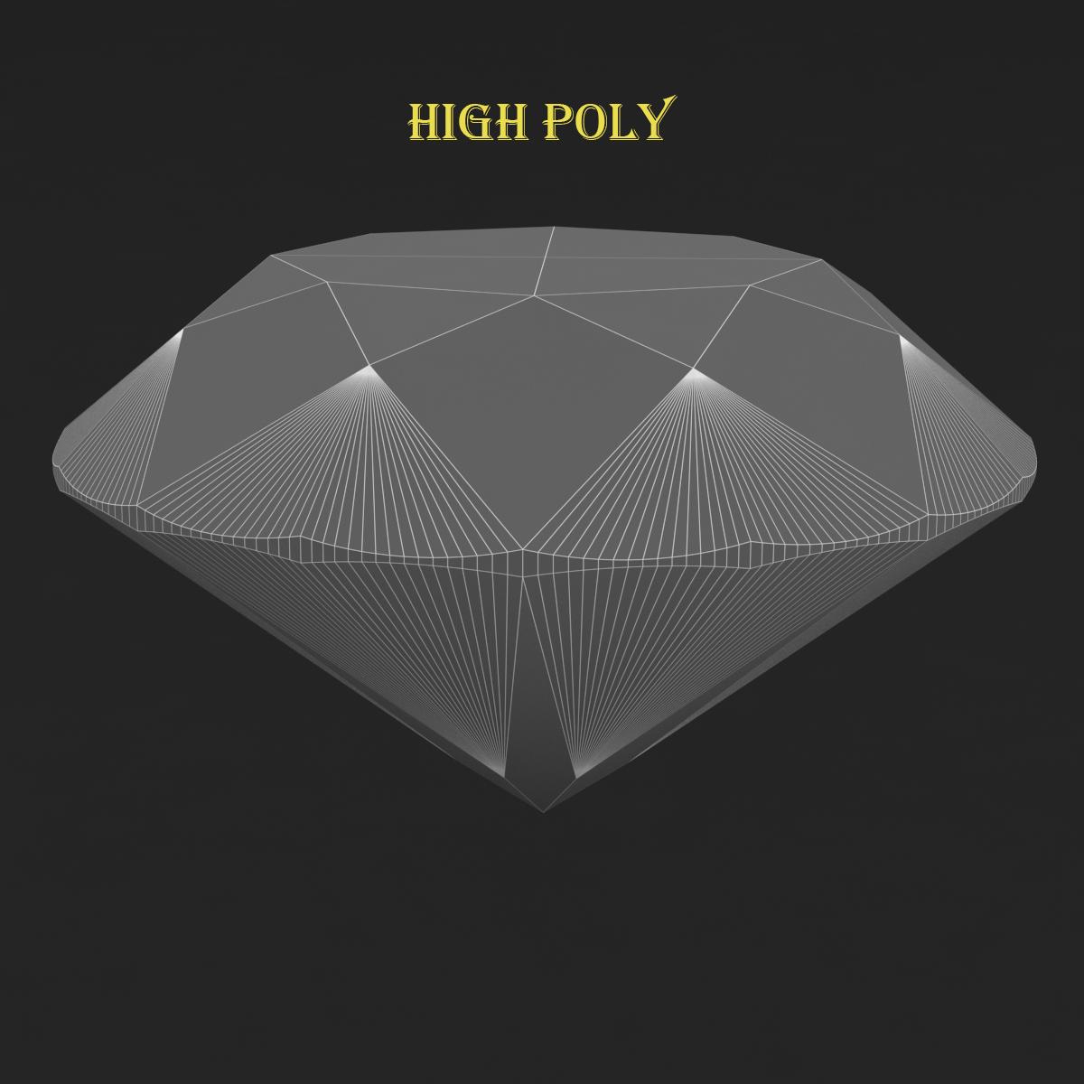 round brilliant diamond 3d model 3ds max dxf dwg fbx c4d ma mb 3dm  obj 283538