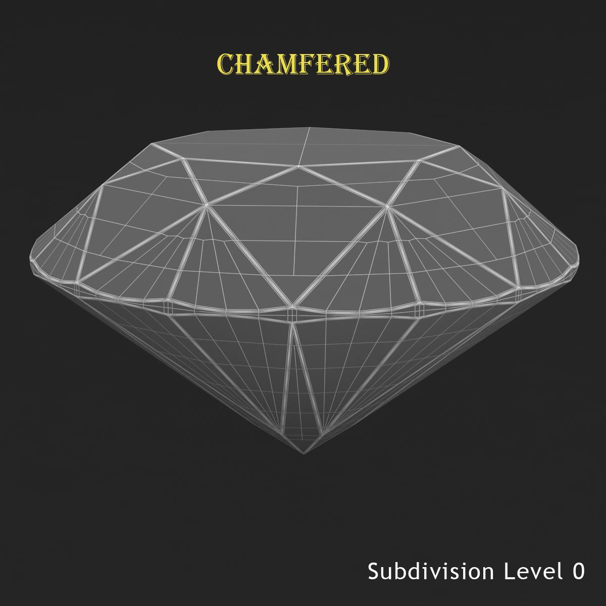 round brilliant diamond 3d model 3ds max dxf dwg fbx c4d ma mb 3dm  obj 283539