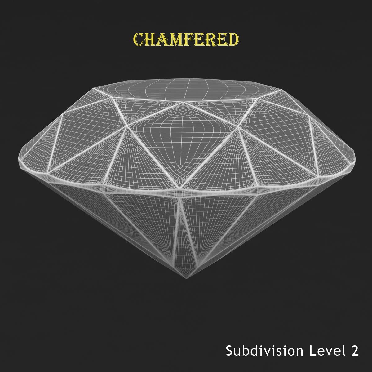 round brilliant diamond 3d model 3ds max dxf dwg fbx c4d ma mb 3dm  obj 283541