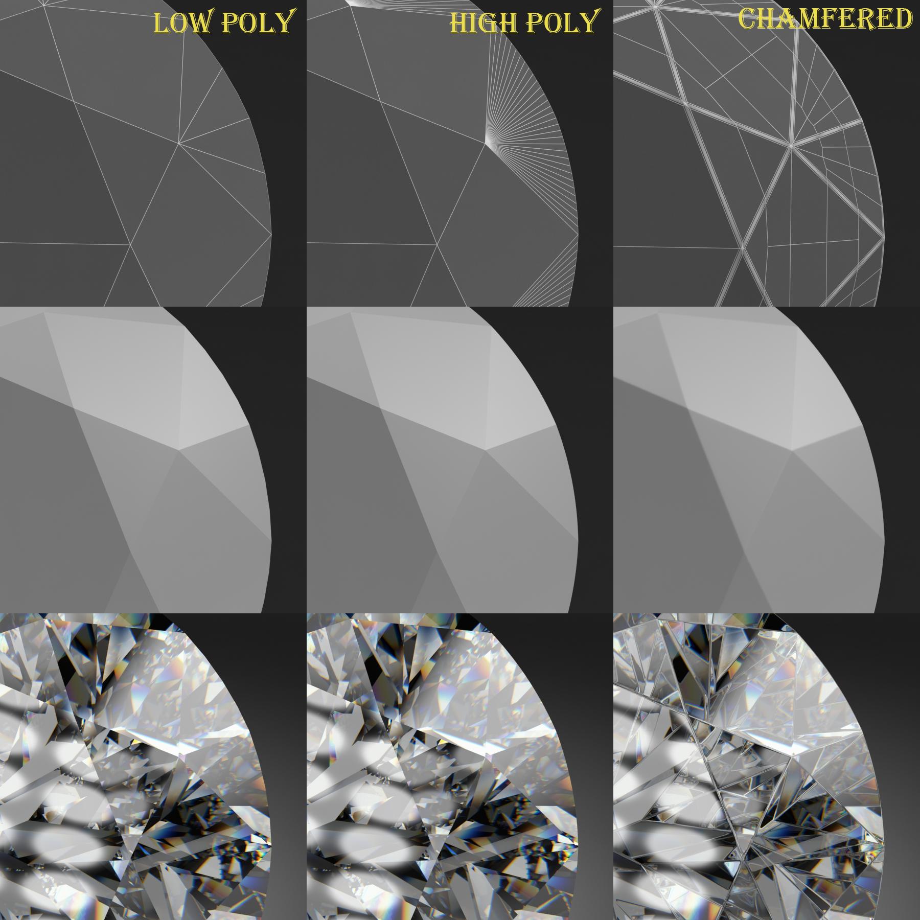 round brilliant diamond 3d model 3ds max dxf dwg fbx c4d ma mb 3dm  obj 283543