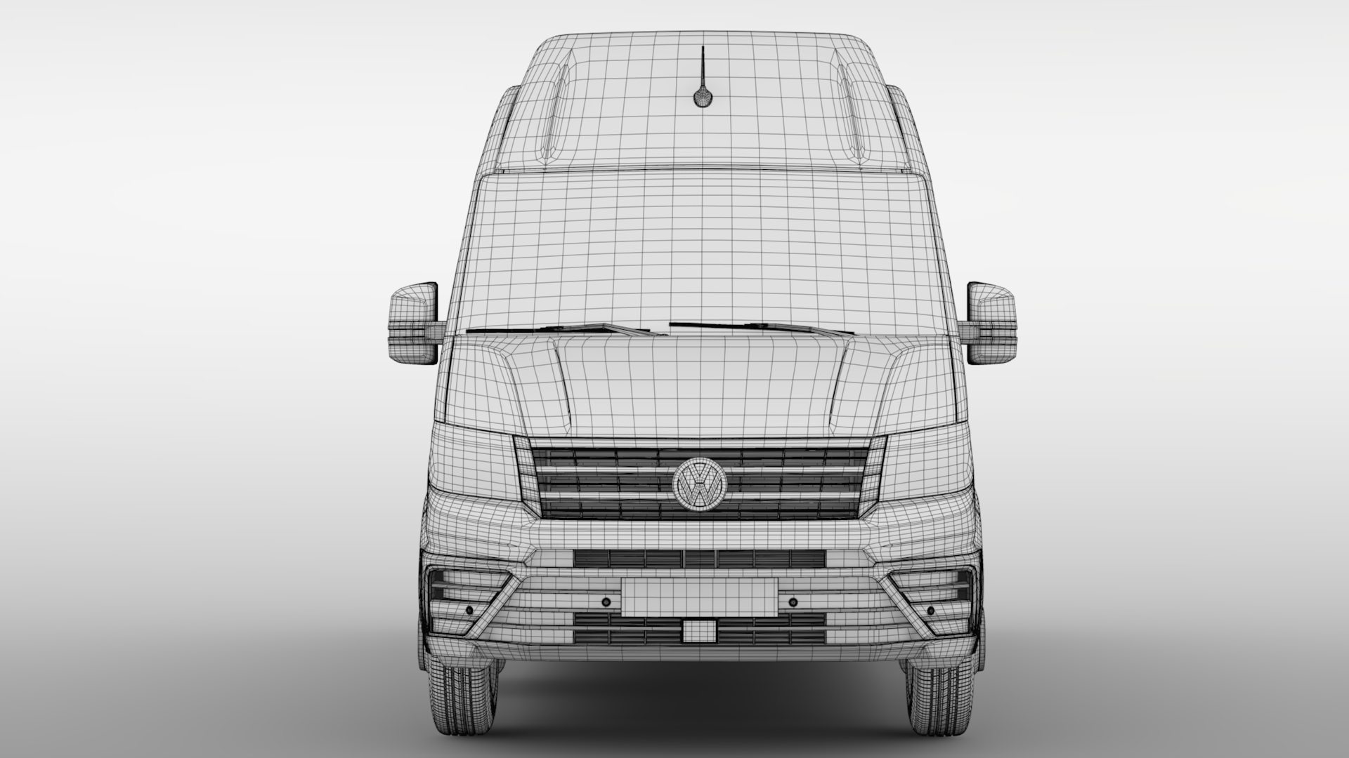 vw crafter l3h3 window van 2018 3d model max c4d lwo ma mb hrc xsi obj 283754