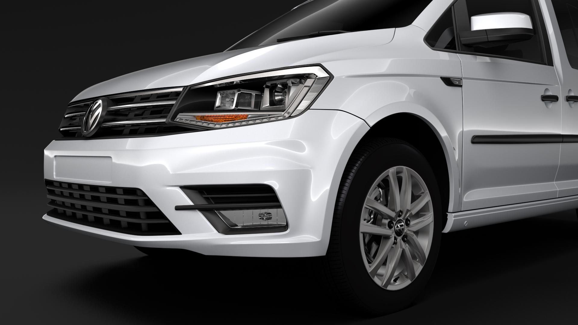 volkswagen caddy 2018 3d model max fbx c4d lwo ma mb hrc xsi obj 283800