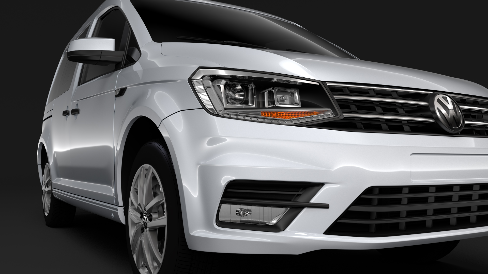 volkswagen caddy 2018 3d model max fbx c4d lwo ma mb hrc xsi obj 283801