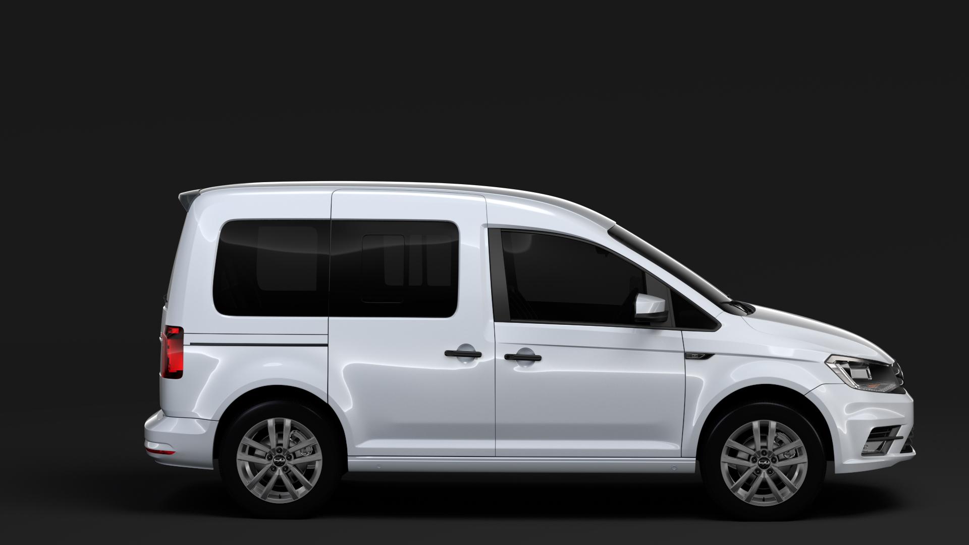 volkswagen caddy 2018 3d model max fbx c4d lwo ma mb hrc xsi obj 283805