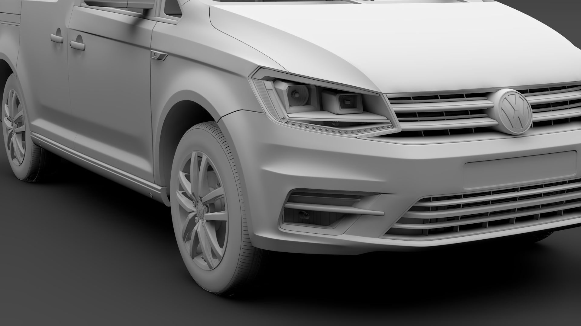 volkswagen caddy 2018 3d model max fbx c4d lwo ma mb hrc xsi obj 283808