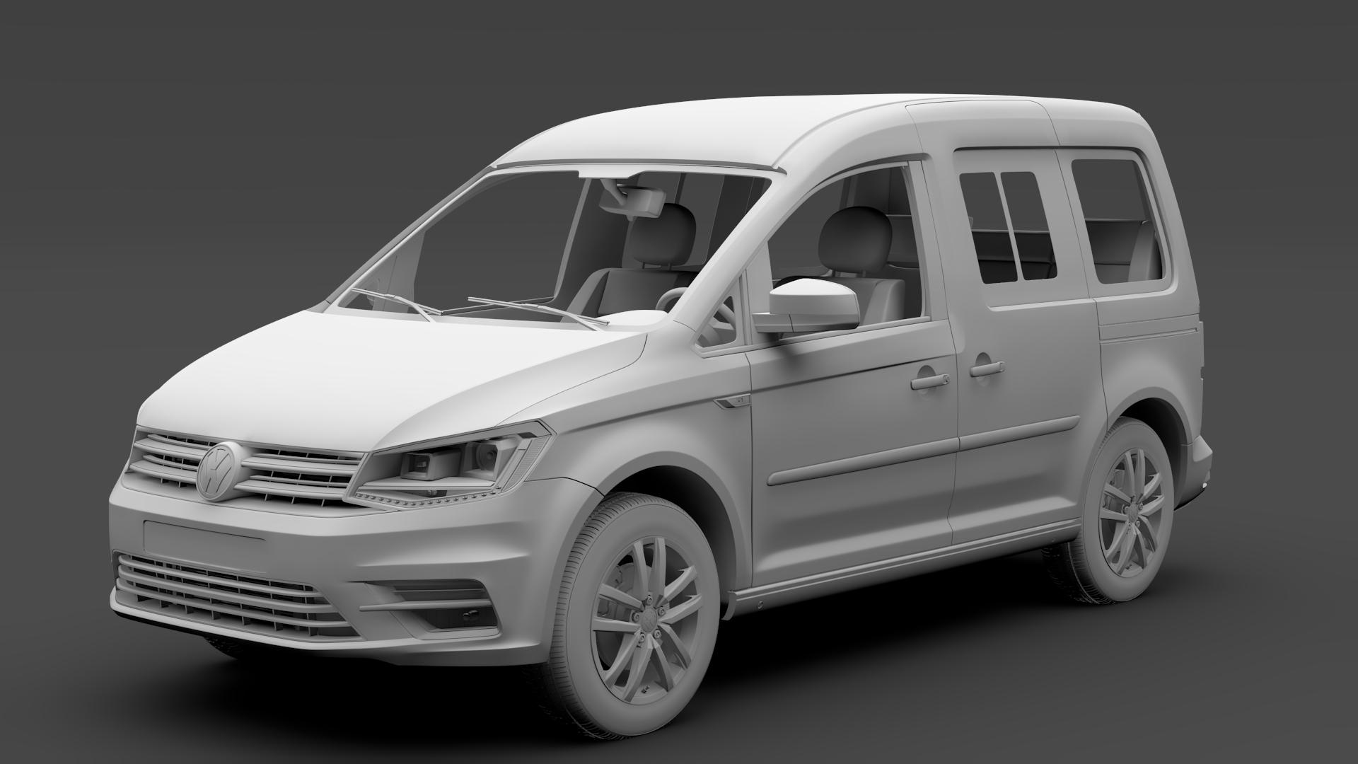 volkswagen caddy 2018 3d model max fbx c4d lwo ma mb hrc xsi obj 283809