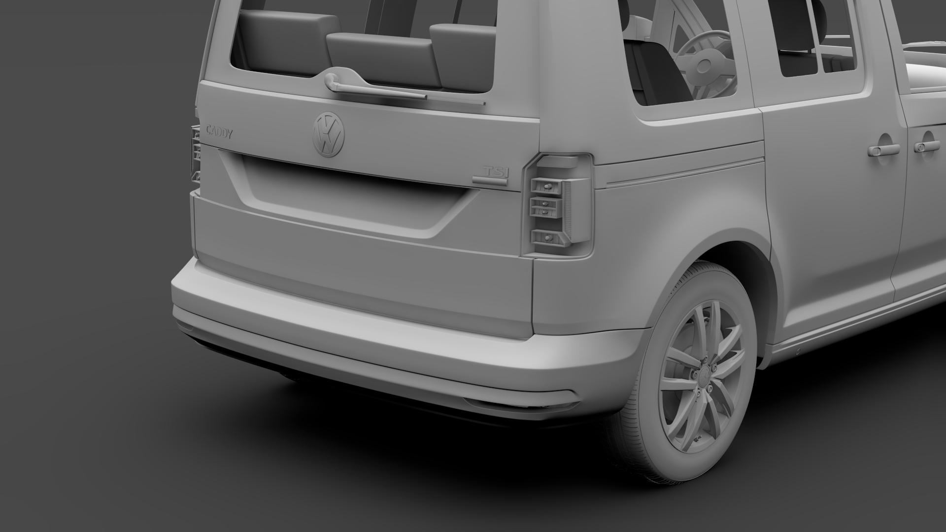 volkswagen caddy 2018 3d model max fbx c4d lwo ma mb hrc xsi obj 283811