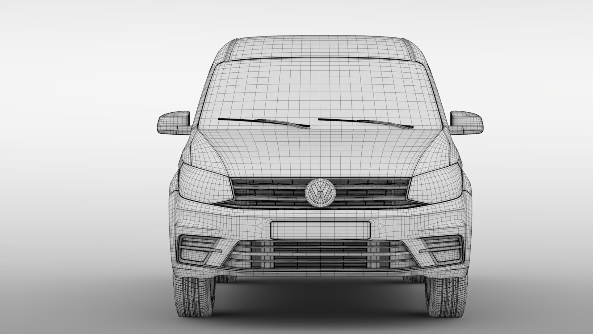 volkswagen caddy 2018 3d model max fbx c4d lwo ma mb hrc xsi obj 283812