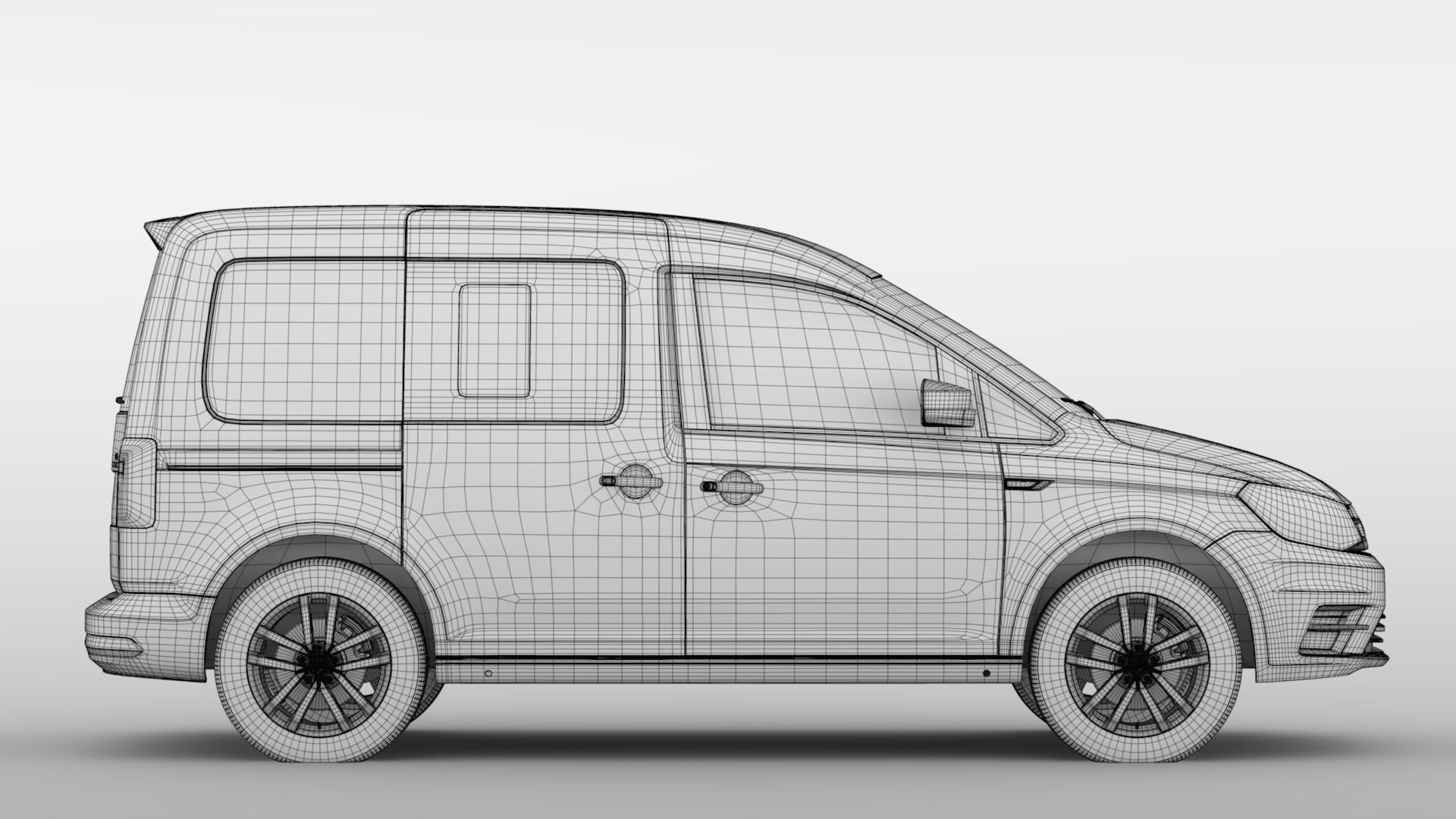 volkswagen caddy 2018 3d model max fbx c4d lwo ma mb hrc xsi obj 283813