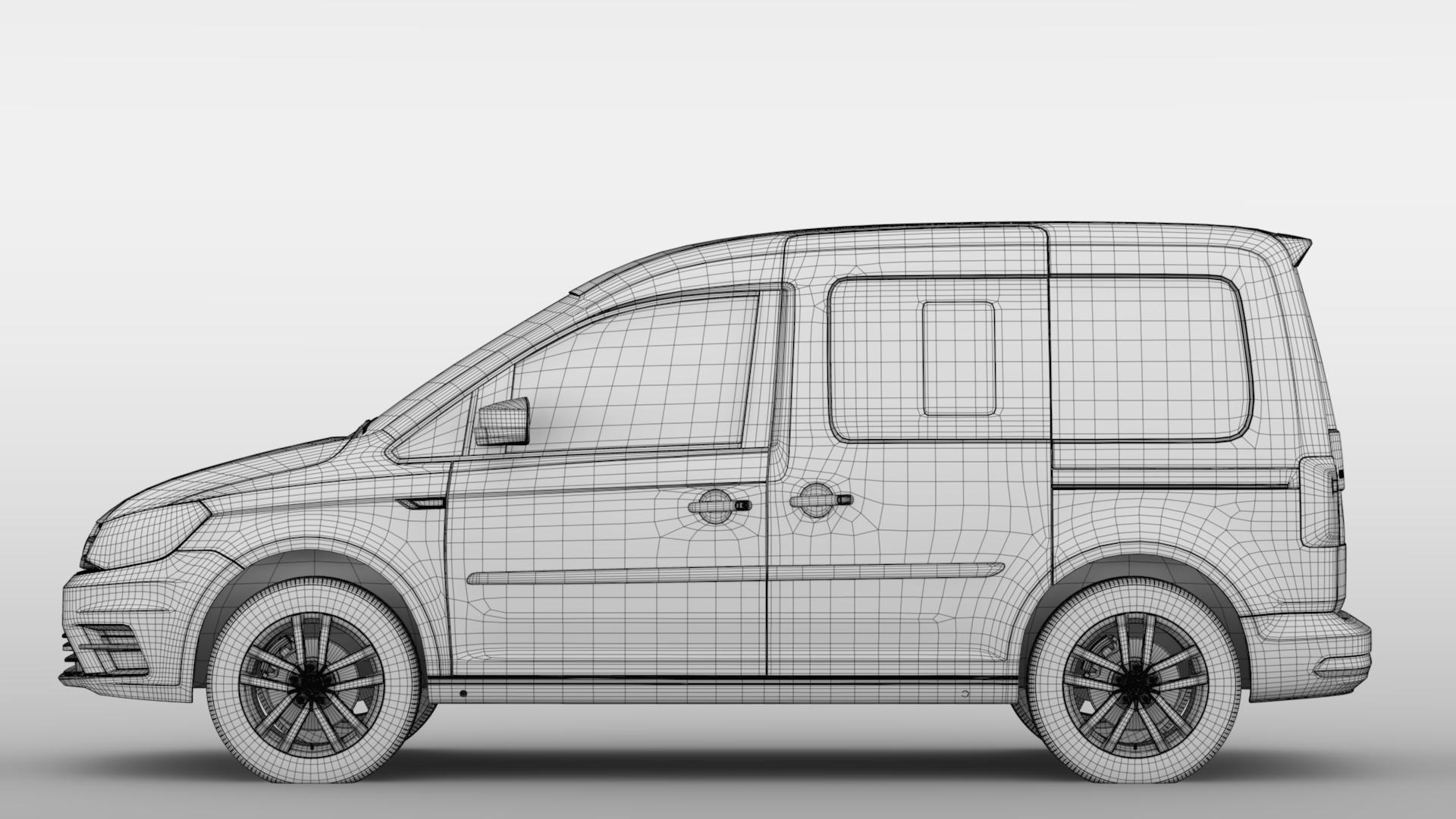 volkswagen caddy 2018 3d model max fbx c4d lwo ma mb hrc xsi obj 283815