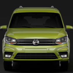 Volkswagen Caddy Maxi 2018 3d model high poly max fbx c4d lwo lws lw ma mb  obj
