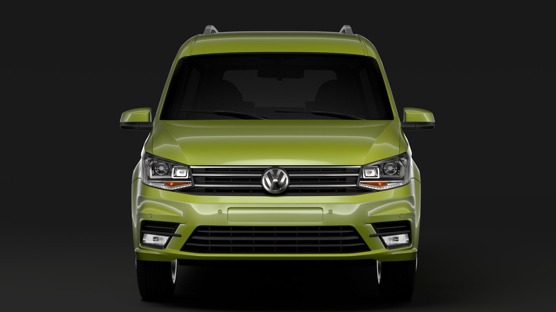 volkswagen caddy maxi 2018 3d model max fbx c4d lwo ma mb hrc xsi obj 283826