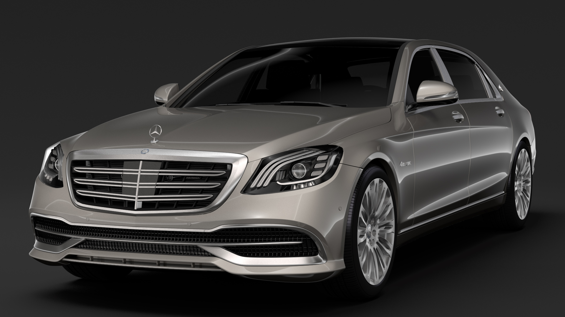 mercedes maybach s 560 4matic x222 2018 3d model 3ds max fbx c4d lwo ma mb hrc xsi obj 284428