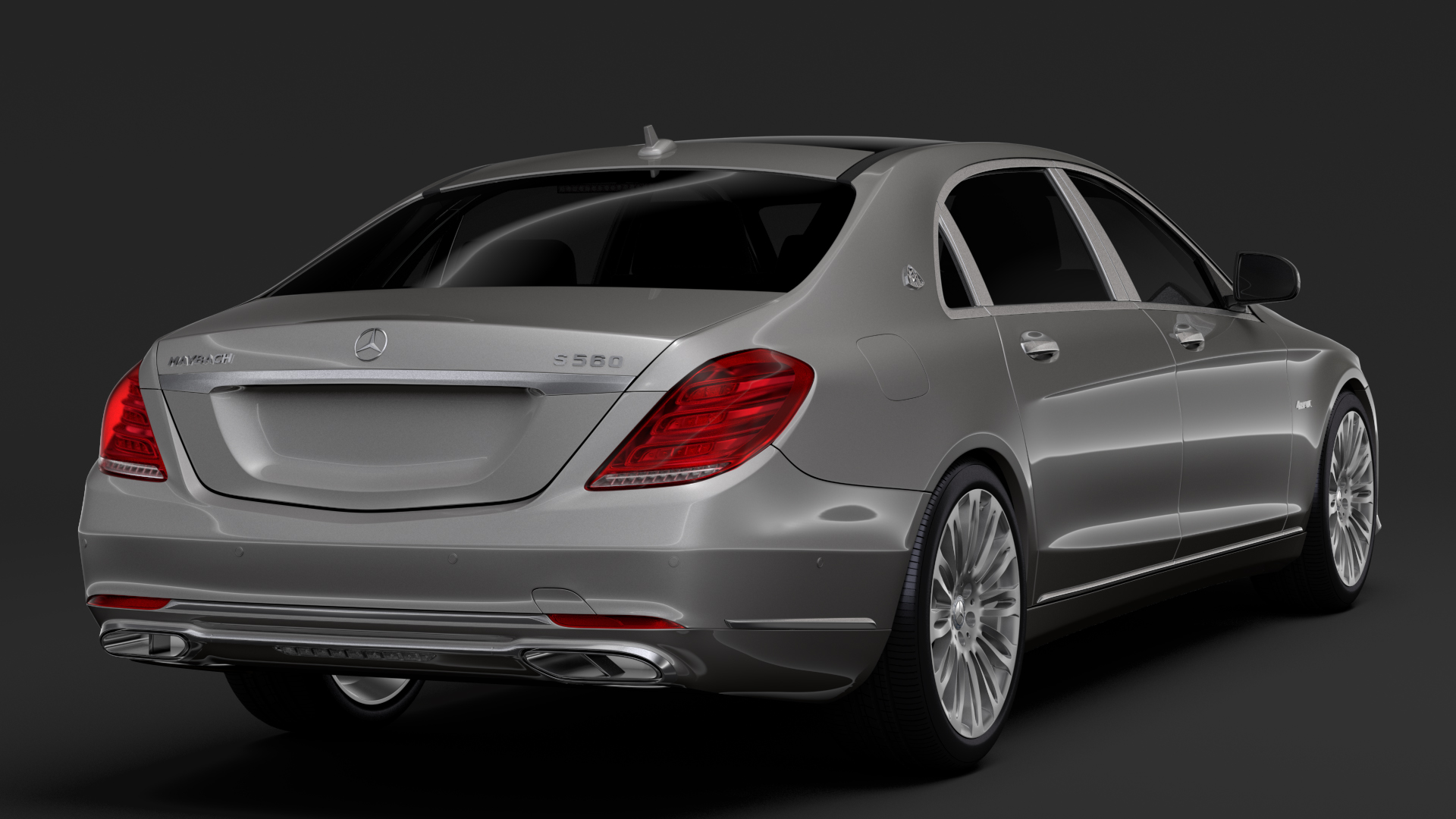 mercedes maybach s 560 4matic x222 2018 3d model 3ds max fbx c4d lwo ma mb hrc xsi obj 284433